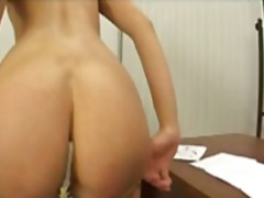 Young blonde european schoolgirl takes toys and a cock in her gaping ass