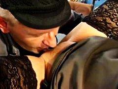 ברונטיות הרדקור ביגוד תחתון במשרד פוסי