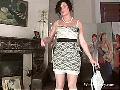 Godes Poilues Lingerie Masturbation Femmes Mûres