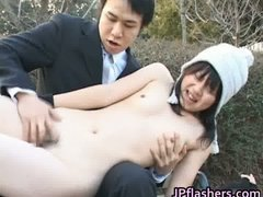 Japanese flasher gets some hard core sex part2