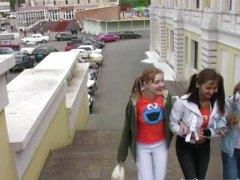 חובבניות זיון במעגל קבוצתי רוסיות בחורה