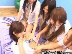 Azijci Bejba Lepe Grupni Japonka
