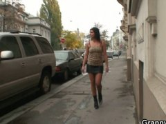 Young dude picks up an old prostitute and bangs her snatch