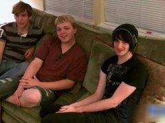 Three boys having some gay porn fun part2