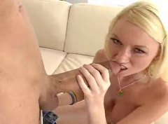 Flexible blonde madison scott takes a monster