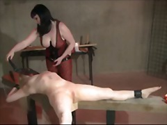 Lezdom electro play and whipping