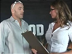 Horny busty blonde slut pornstar honey west fucked hard to orgasm