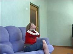 Russian teen fucks hot milf in ass
