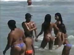 חובבניות חוף ברזילאיות לטיניות ציבורי