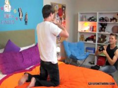 Two young guys get it on