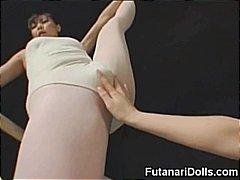 Азиски Бизарен Јапонско Женски-Маж Женска Со Кур