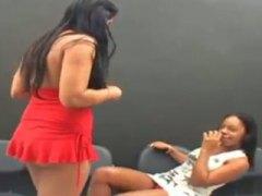 Brazilian lesbians kissing #2