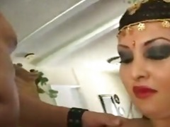 Girl in persian costume fucked in her tight cunt