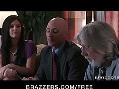 Sexy brunette ex-wife milf fucks her attorney's hard big cock