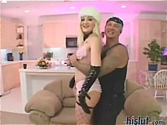 Sexy blonde scarlett gets gang banged and hardcore double penetration