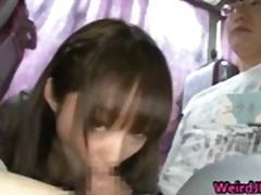 Asialı Gözəl qız Avtobusda Eyş-işrət Qrup