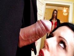 Anál Černosi Skupinový sex Spodná bielizeň Výstrek na tvár