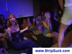Chicks at a party get horny and get wild with two hot strippers
