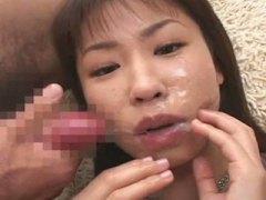 Aasia Panemine Bukkake Näkku Purskamine Orgasm