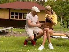 Amatöör Blondid Suhuvõtmine Seemnepurse Näkku Purskamine