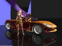3D Peitudas Hentai Ruiva