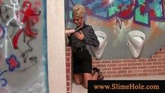 בלונדיניות גמירה המונית לבושות וערום גמירות