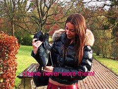 Μπότες Πρώτο Γαλλίδα Νεαρή Μωρό