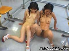 Asian female students getting punished