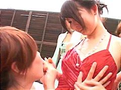 ญี่ปุ่น ข้างสระ สาวน้อย เลสเบี้ยน