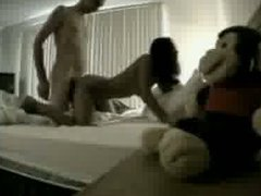 Hot asian teen sucks and gets fucked by an old guy on hidden cam