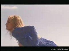 Röv Babe Strand Blond Avsugning