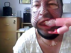 Fishnet mask playing around