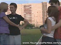רביעייה קבוצתי צעירות זוג קבוצתי