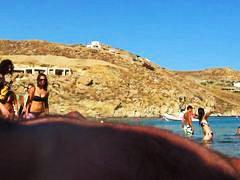 חובבניות חוף מצלמה נסתרת ציבורי