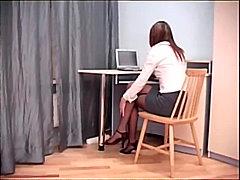 חובבניות כוסיות פטיש הרדקור במשרד
