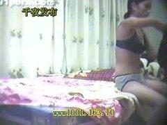 აზიელი გოგო სახლში დამზადებული
