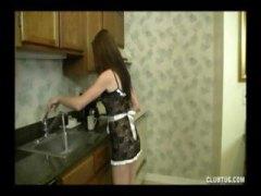 Rjavolaska Fant Dekle drka tiča Izliv V kuhinji