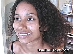 Compilation of brazilian babe getting lots of facial cumshots