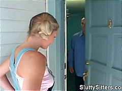 Babysitter Blond Blowjob Boss Schwanz