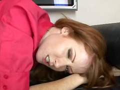 Naughty nikki rhodes munches on his dick and gets a facial