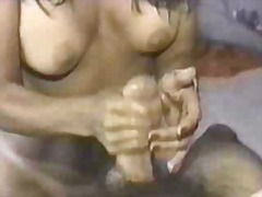 Hand job with dirty talk