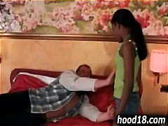 Black shy teen getting fucked
