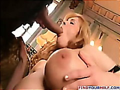 Hot mom does her son and friend