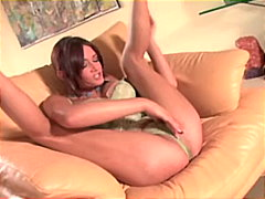Tory lane teasing and squeezing herself 1