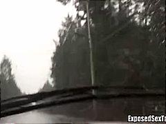 Amateur Cotxe Masturbació Públic Pèl-Roges