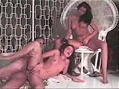 אוננות מגולחות שלושה משתתפים אנאלי רימג'וב