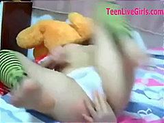 Utrolig Asiatisk Rumpe Barnevakt Vakker