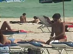 Vruće Žene Bikini Skrivena Kamera Vani Javno