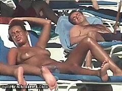 Strand Bikini Gluren Zwembad Publiek