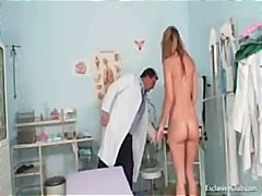 Kira kinky gyno exam at gyno clinic